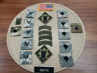 Lot of 20 US Army Airbone  Insignia Patch American Flag  USA Patches +Smith name