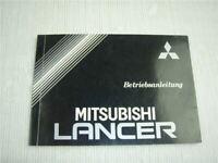 Mitsubishi Lancer GL GLX GTi Betriebsanleitung Bordbuch 1990 Bedienungsanleitung