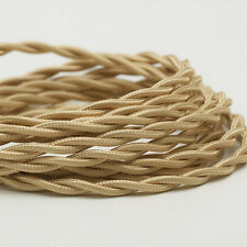 Spun Gold - Cloth Covered Electrical Wire 25 ft - Braided wire - Fabric wire