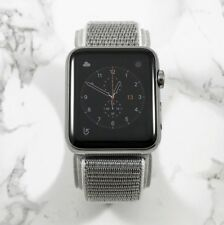 Apple Watch Gen 1 42mm Stainless Steel Case Series 7000 Seashell Nylon Loop