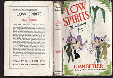 JOAN BUTLER - LOW SPIRITS    FIRST EDITION   very rare