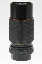 Hanimex Hi Tec Lens Auto Zoom 4,0/80-200mm Macro Objektiv mit Pentax K Bajonett
