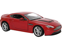 "1:24 WELLY Model Car ""Aston Martin V12 Vantage"" Red Colour Metal Age 8+"