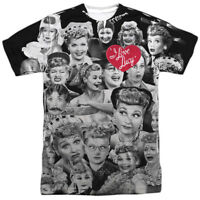 Authentic I Love Lucy TV Show Faces Photos Sublimation Allover Front T-shirt top