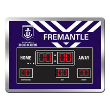 123655.1 FREMANTLE DOCKERS DESIGN 1 AFL SCOREBOARD DIGITAL LED CLOCK TIME DATE