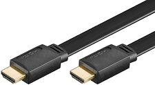 HDMI Flach Kabel 3m Flachkabel Flachbandkabel HighSpeedwEthernet vergoldet 3,0m