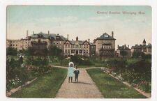 Canada, General Hospital Winnipeg 1909 Postcard, B150