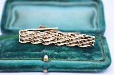 Vintage yellow metal tie clip in the art deco style #T452