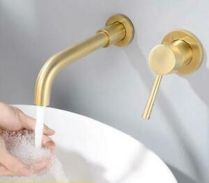 Brushed gold , Black Tap brass Single Handle Bathroom In Wall Mount mixer Faucet