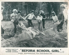 Reform School Girl Original Lobby Card fight  Gloria Castillo Yvette Vickers
