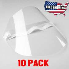 10 Pack Safety Full Face Shield, Anti-Fog Protection Anti-Splash Clear Visor