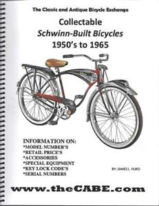ALL NEW BOOK Collectable SCHWINN Built Bicycles 1950's to 1965 Phantom Panther
