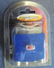 NEW POWER BRIGHT PB-1360 Scart Adapter 3 RCA Jacks w/ S-video 21-pin  Gold Pl