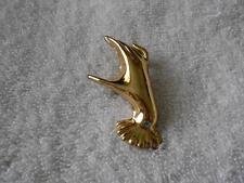 Vintage Signed ASTER Hand Brooch Gold Tone
