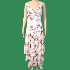"CELIA BIRTWELL Express Silk Chiffon Floaty Tiered Dress Floral Gypsy B34-38"""