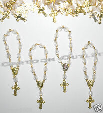 24 BAPTISM FAVORS MINI ROSARY BAUTIZO COMUNION WEDDING CHRISTENING RECUERDOS G