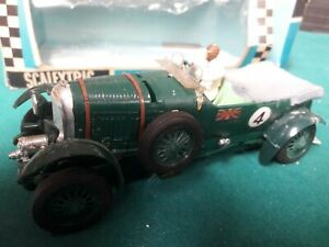 BOXED VINTAGE TRIANG SCALEXTRIC C64 BENTLEY  60'S MODEL RACING CAR