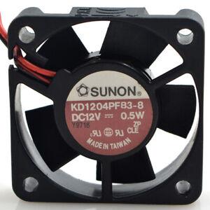 1pc SUNON KD1204PFB3-8 12V 0.5W 4CM 4010 2-wire Mute Cooling Fan