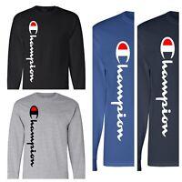 Champion T-shirt Brand New Classic Men's Long Sleeve Tshirt(S-2XL)