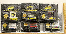 Johnny Lightning Anniversary Diecast Cars 1970 Ford Buick Dodge Plymouth AMC NOC