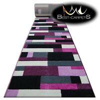 Runner Rugs, PILLY 8403 black/purple, modern, Stairs Width 70-120 cm extra long