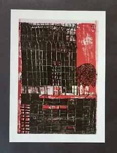 "Friedensreich Hundertwasser ""Skyscraper With Trees""  Mounted offset Litho 1986"