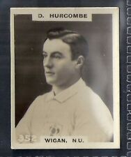 PINNACE FOOTBALL-BLACK OVAL BACK-#0352- RUGBY - WIGAN. NU - D. HURCOMBE