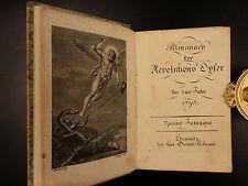 1795 French Revolution Almanac Charlotte Corday Jacobin Marat Marie Antoinette