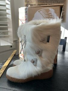 NEW Oscar sport boots Julia White Fur US 9 EU 40 Winter Snow