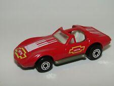 Matchbox Superfast No 62 Chevrolet Corvette Red Plastic Gold-Green Base VNM UB