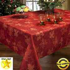 Christmas Tablecloth Holiday Decor 60 x 104'' Printed Fabric Dinner Table Cloth