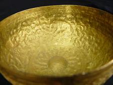Ancienne Coupe rituelle à offrande bronze doré et ciselé Art ottoman Turquie ?