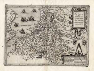 Antique Map-NETHERLANDS-BELGIUM-Guicciardini-1588