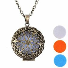 Dull Locket Necklace for Perfume Fragrance Aromatherapy Essential Oil Diffuser