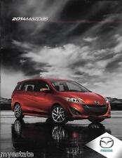 2014 14 Mazda 5   Original sales brochure MINT