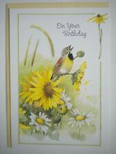"Hallmark ~ Marjolein Bastin ~ ""ON YOUR BIRTHDAY"" GREETING CARD + YELLOW ENVELOPE"