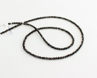 Diamant Kette Edelsteinkette Schwarze Facettierte Top Qualität Collier Edel 48cm
