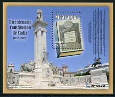 NICARAGUA 2012 Verfassung von Cadiz Denkmal Geschichte Block ** MNH