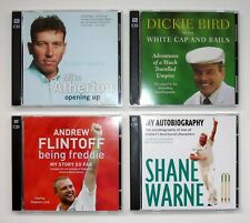 Collection of 4 CRICKET CD Audio Books - Atherton, Warne, Bird & Flintoff