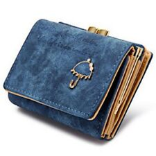 Small Umbrella Wallet Button Clutch Purse Bag Faux Leather Women Wallets Purses
