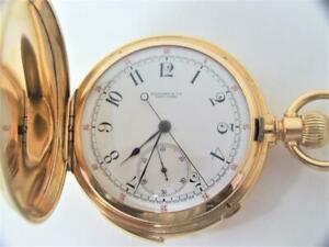 Antique 18K TIFFANY & CO Minute Repeater Chronograph watch by PATEK PHILIPPE