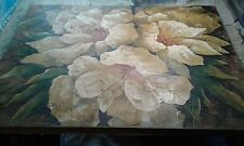 FLOWERS. BEAUTIFUL MIXED MEDIA Oil Painting Canvas Vintage Artist LEE REYNOLDS