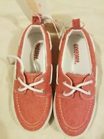 Gymboree Youth Shoes Red White Canvas New NWT size 12