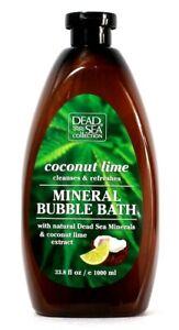 1 Ct Dead Sea Collection 33.8 Oz Coconut Lime Cleans Refresh Mineral Bubble Bath