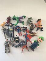 Vob Lot Of Action Figure Toys Super Heroes Bundle Batman Spider Man Superman (8