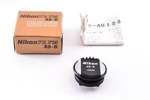 Almost Unused in box Nikon AS-6 AS-4 Flash Unit Coupler Adapters MF Camera FM F