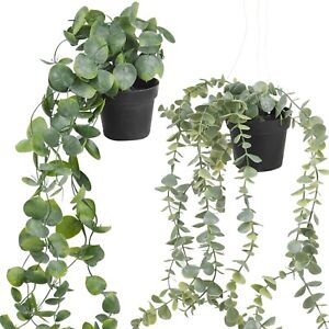 Artificial Fake Hanging Ivy Vine Leaf Potted Plant Flower Basket Home Decoration