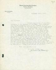 SELAH B. STRONG - TYPED LETTER SIGNED 02/20/1928