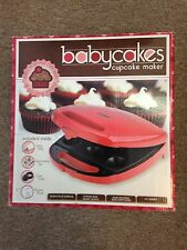 Babycakes cupcake maker original Red with accessories