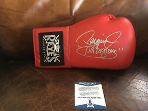 """Manny """"Pacman"""" Pacquiao Signed Autogrpahed Cleto Reyes Boxing Glove  BAS#Y96304"""